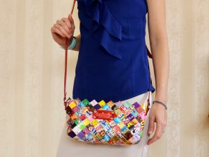 Eye Candy Clutch, Long Leather Strap